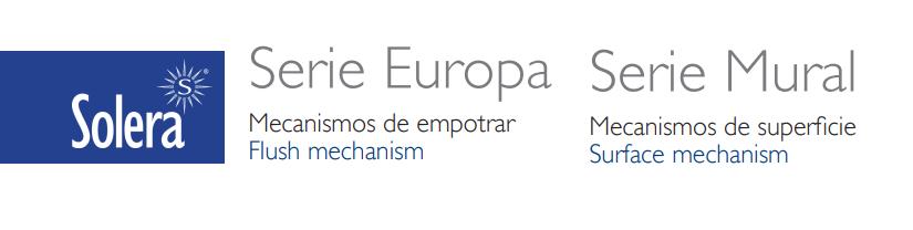 Tarifas Serie Europa y Mural de Solera