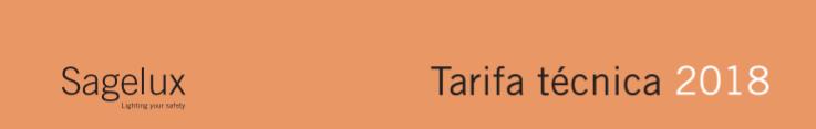 Tarifa Sagelux 2018